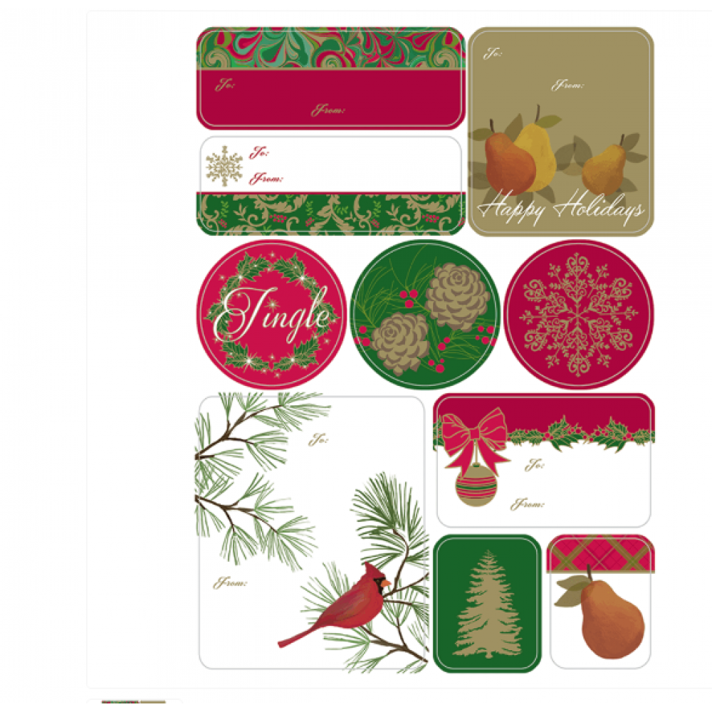 Gift Label - Christmas Classic Sheet