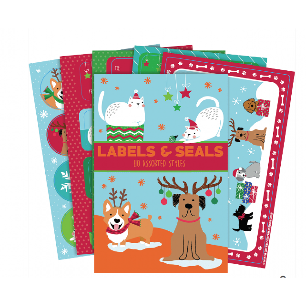 Gift Label - Holiday Pets