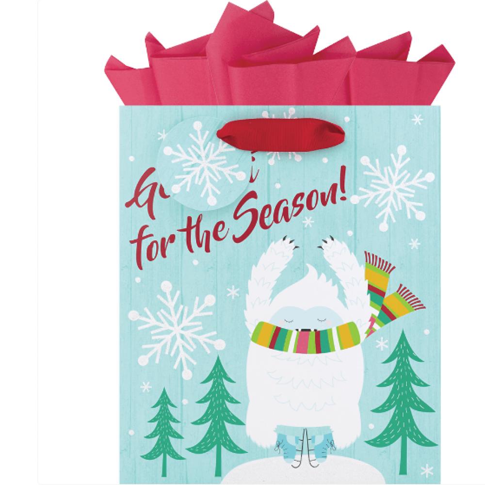 Gift Bag - Yetti For Season Medium Square