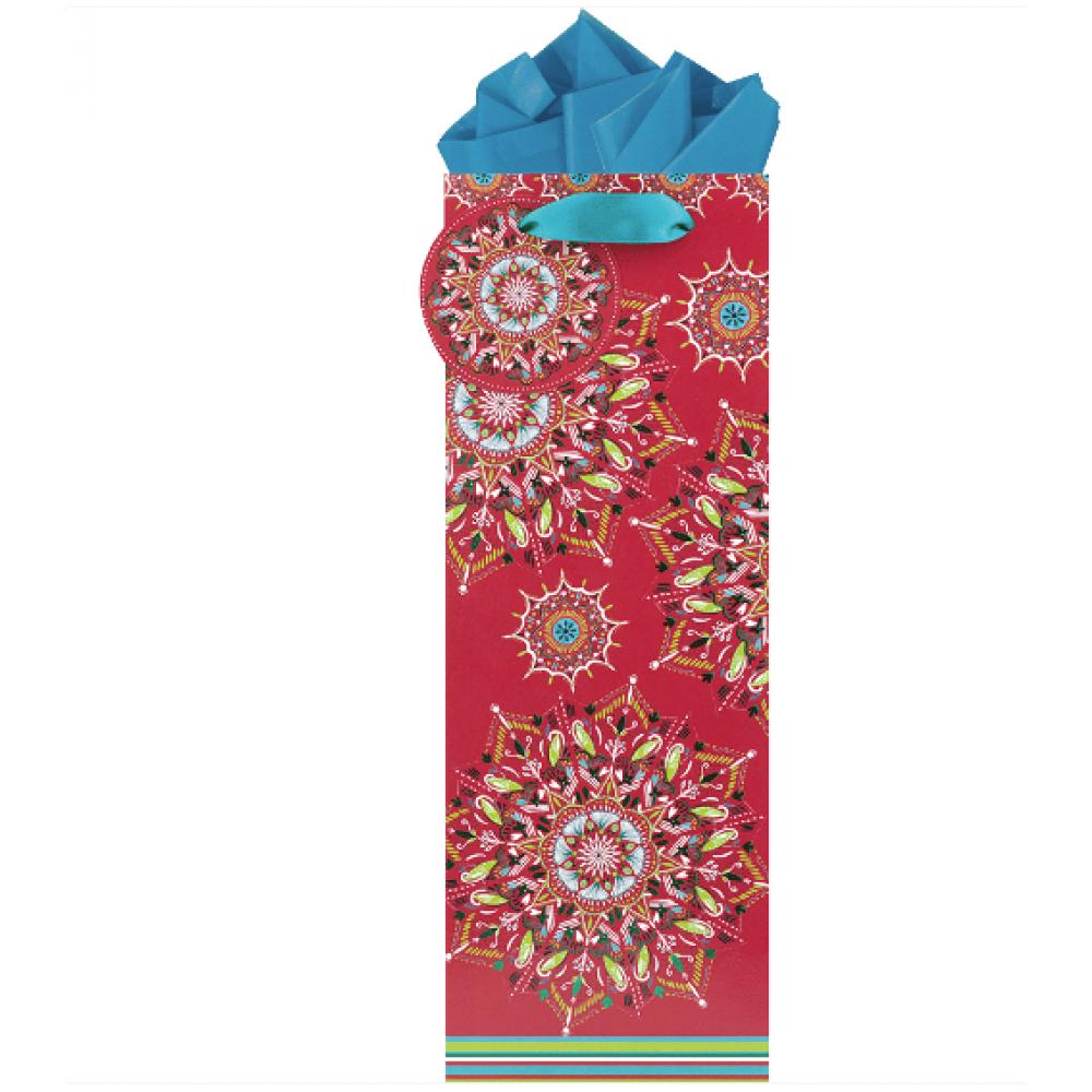 Gift Bag - Bottle - Ruby Kaleidoscope