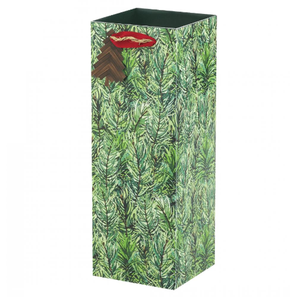 Gift Bag - Bottle - Pine forest