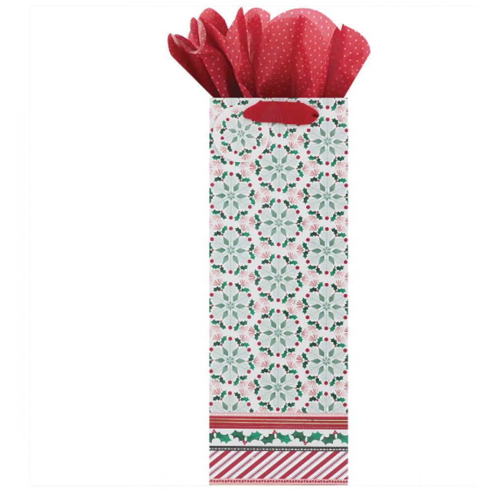 Gift Bag - Bottle - Holiday Affair