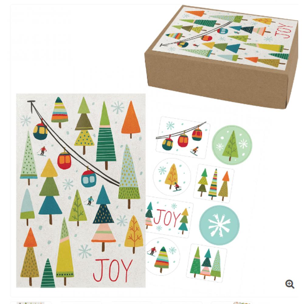 Boxed Card - Enjoy The Season Medium