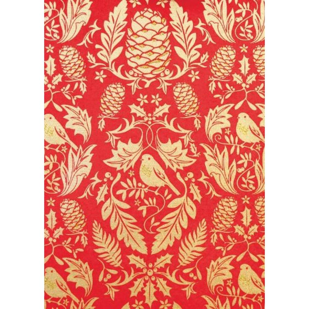 Gift Wrap - Ruskin Red