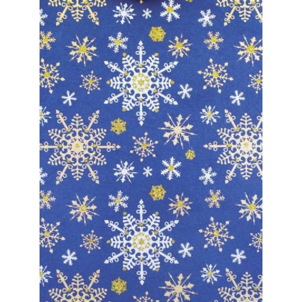 Gift Wrap - Snowflake Blue