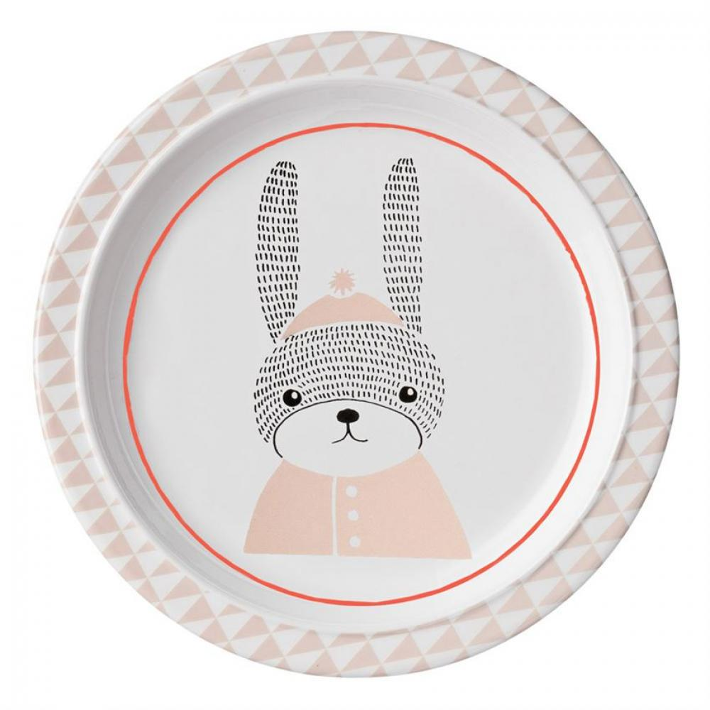 Kids Dinnerware Sophia Plate with Bunny