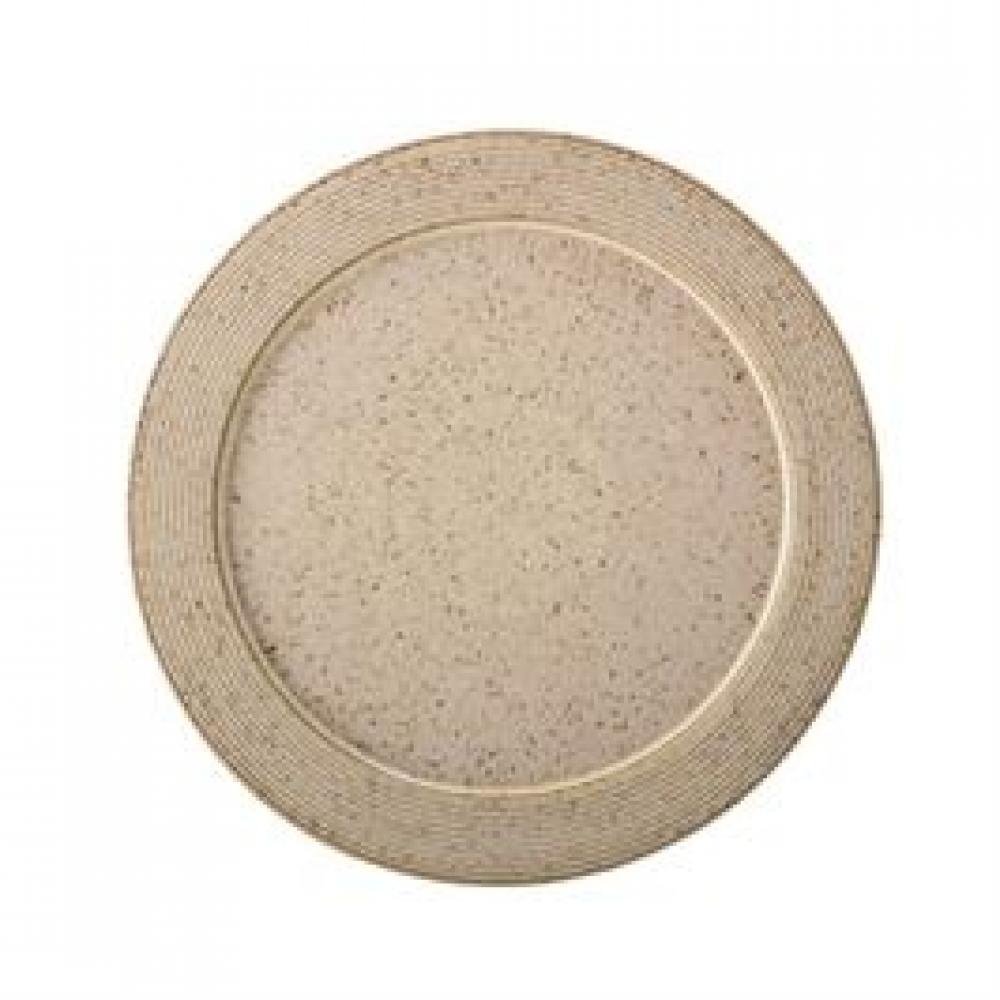 Plate Stoneware Speckled Finish Beige