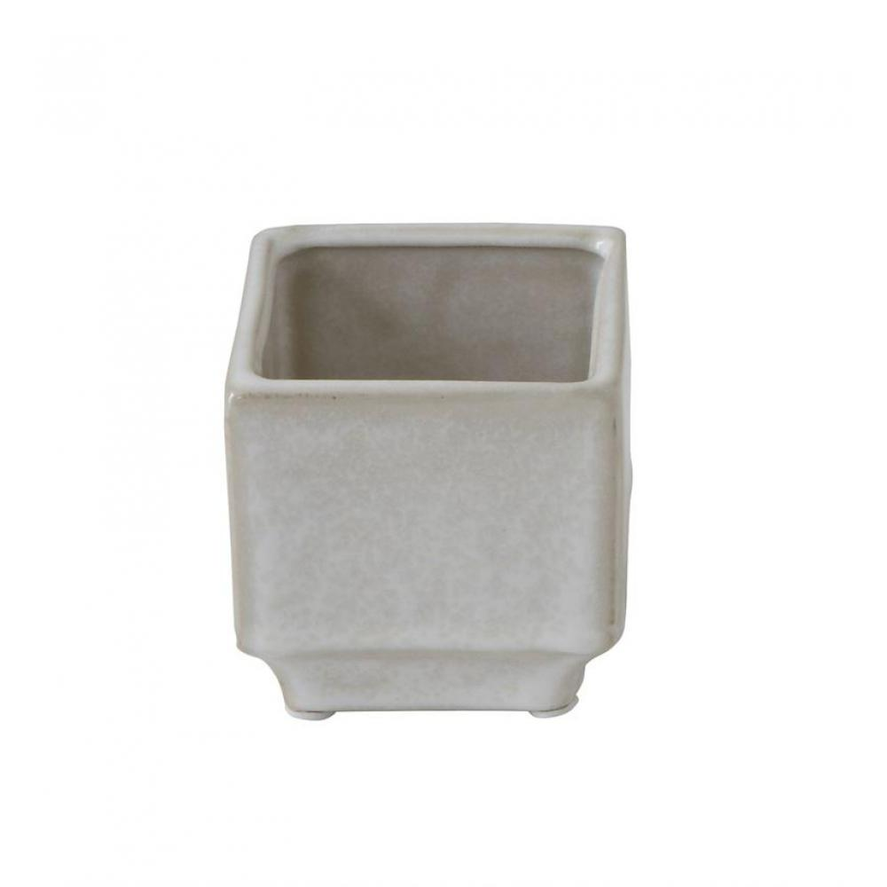 Planter Stoneware Square Grey