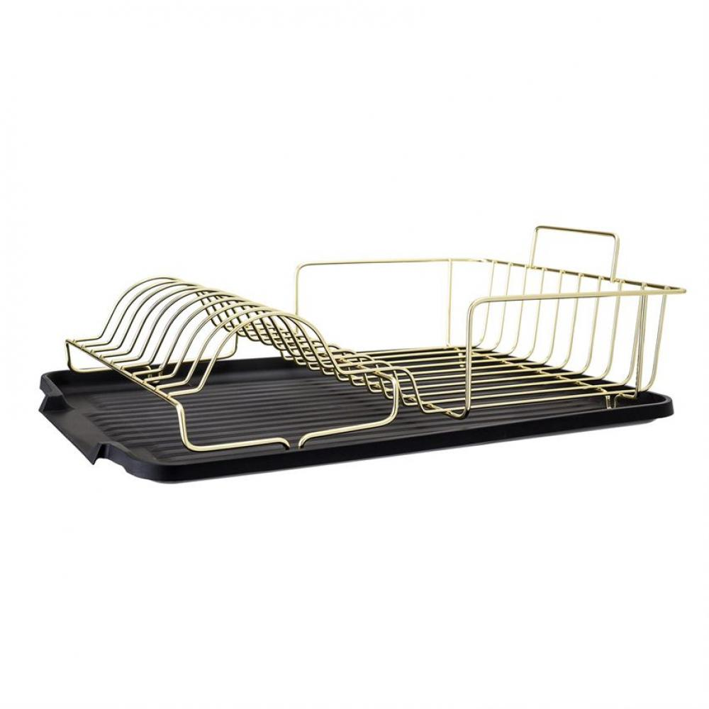 Dish Rack  Metal With Black Tray