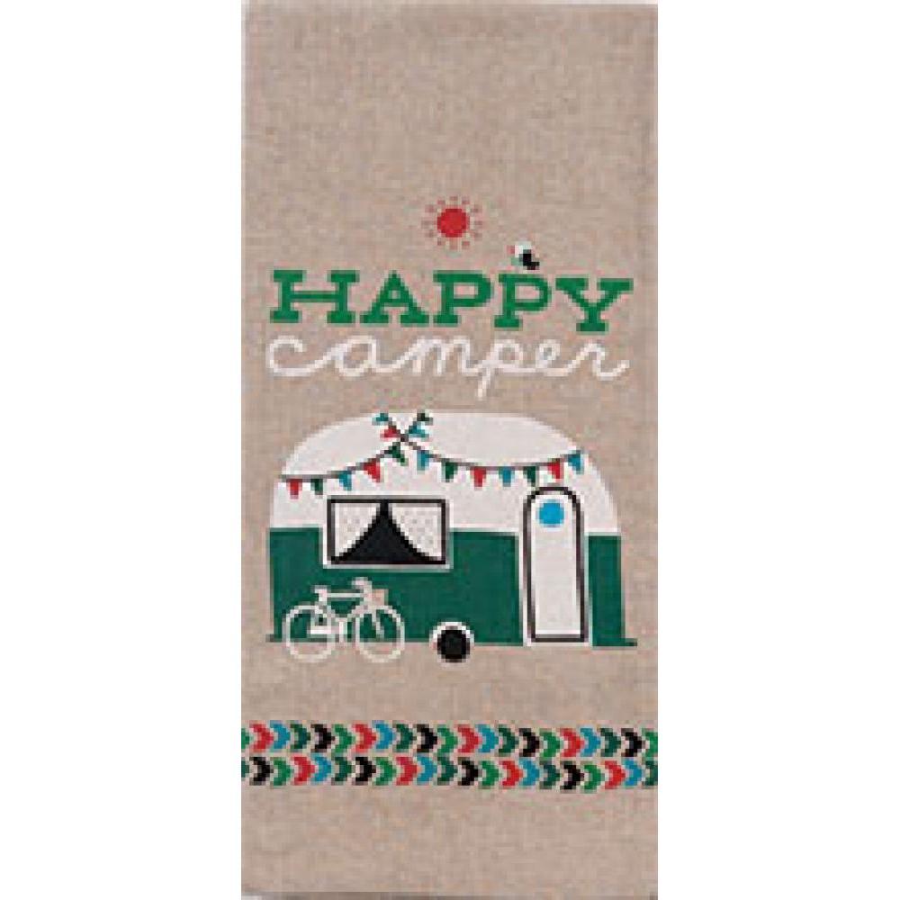 Tea Towel - Happy Camper