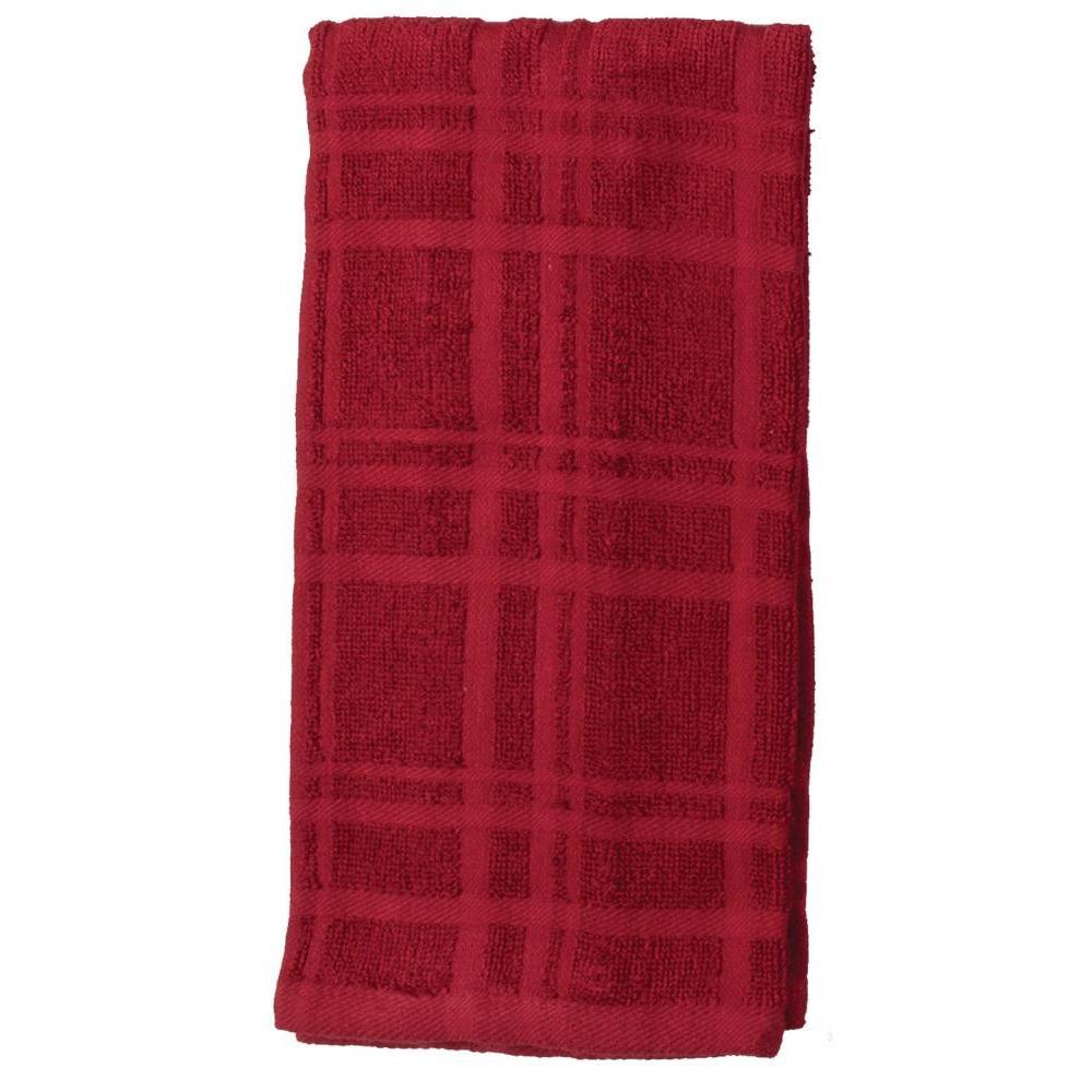 Towel - Terry Solid - Kitchen Basics Cinnabar 2 Pk