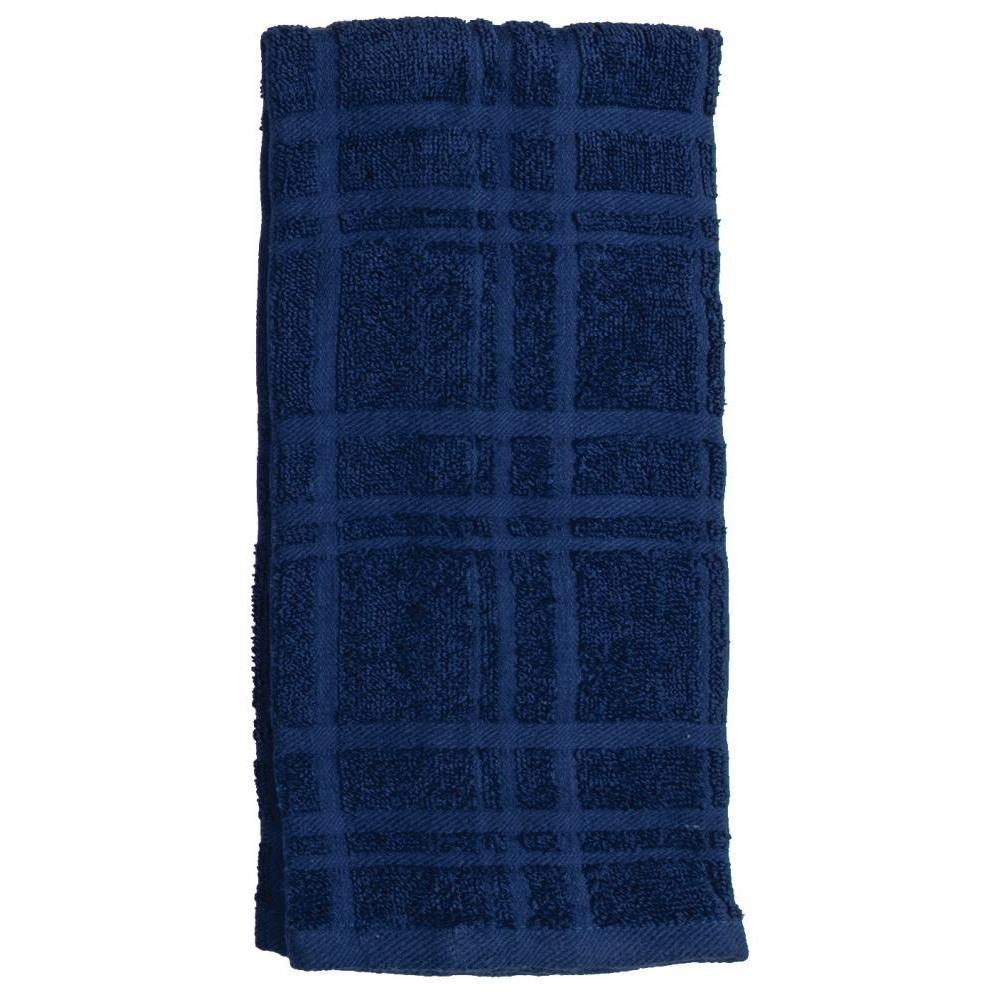 Towel - Terry Solid - Kitchen Basics Indigo 2 Piece