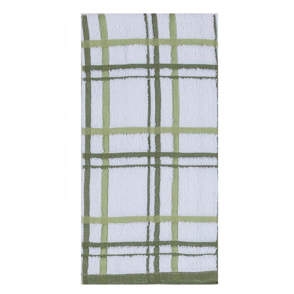 Towel - Terry Windowpane - Meadow 2 Pk