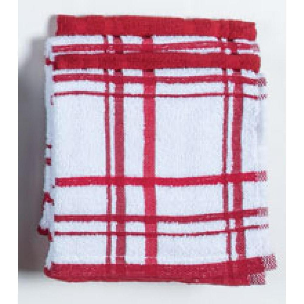 Dish Cloth - Cinnibar Windowpane 4 Pk