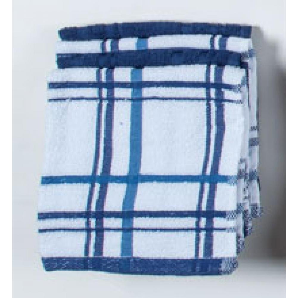 Dish Cloth - Indigo Windowpane 4 Pk