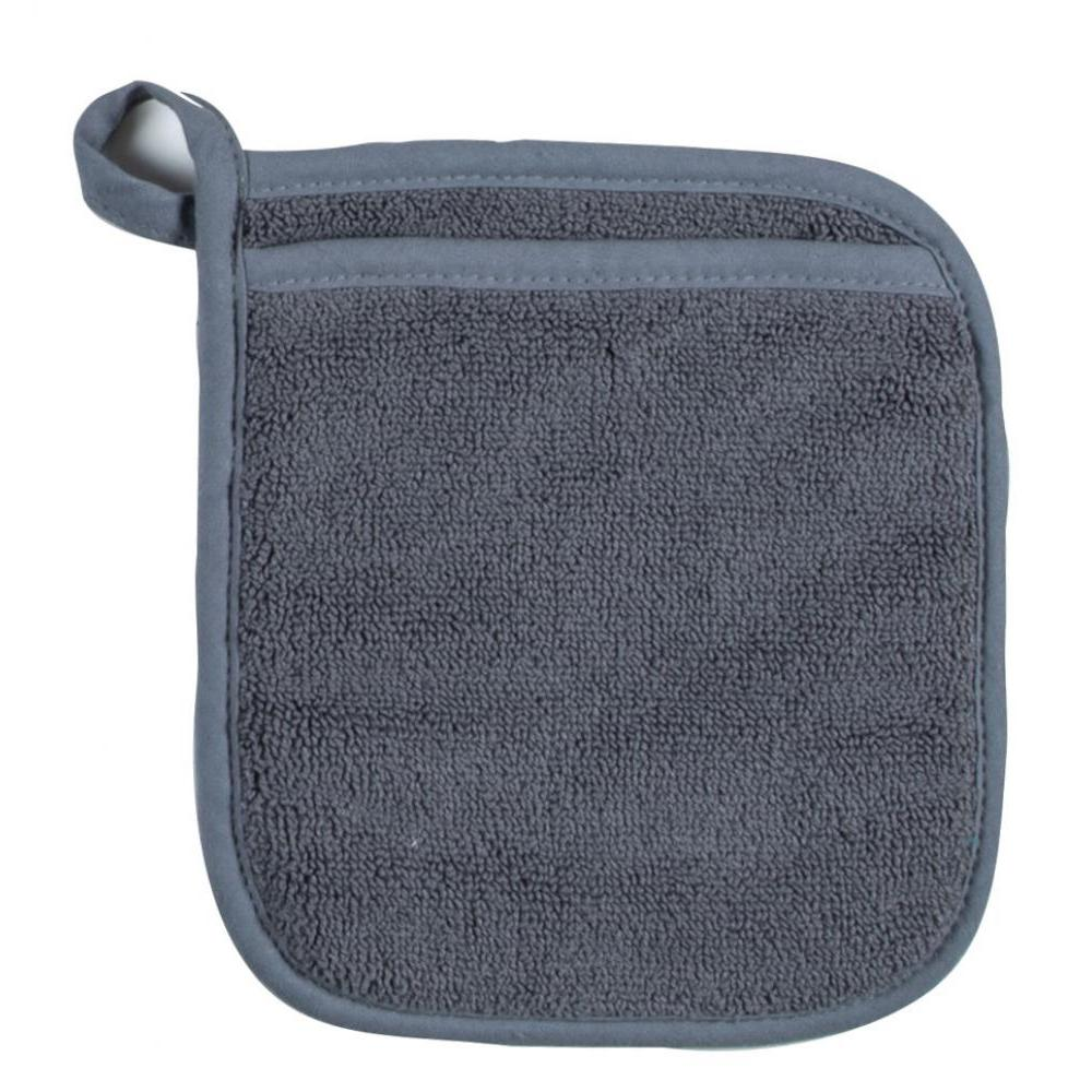 Oven Mitt - Charcoal Terry Pocket