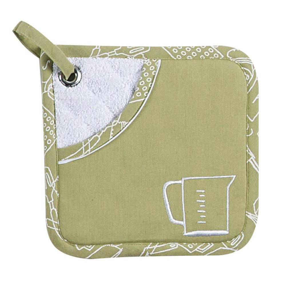 Oven Mitt - Fern Pocket Embroidered