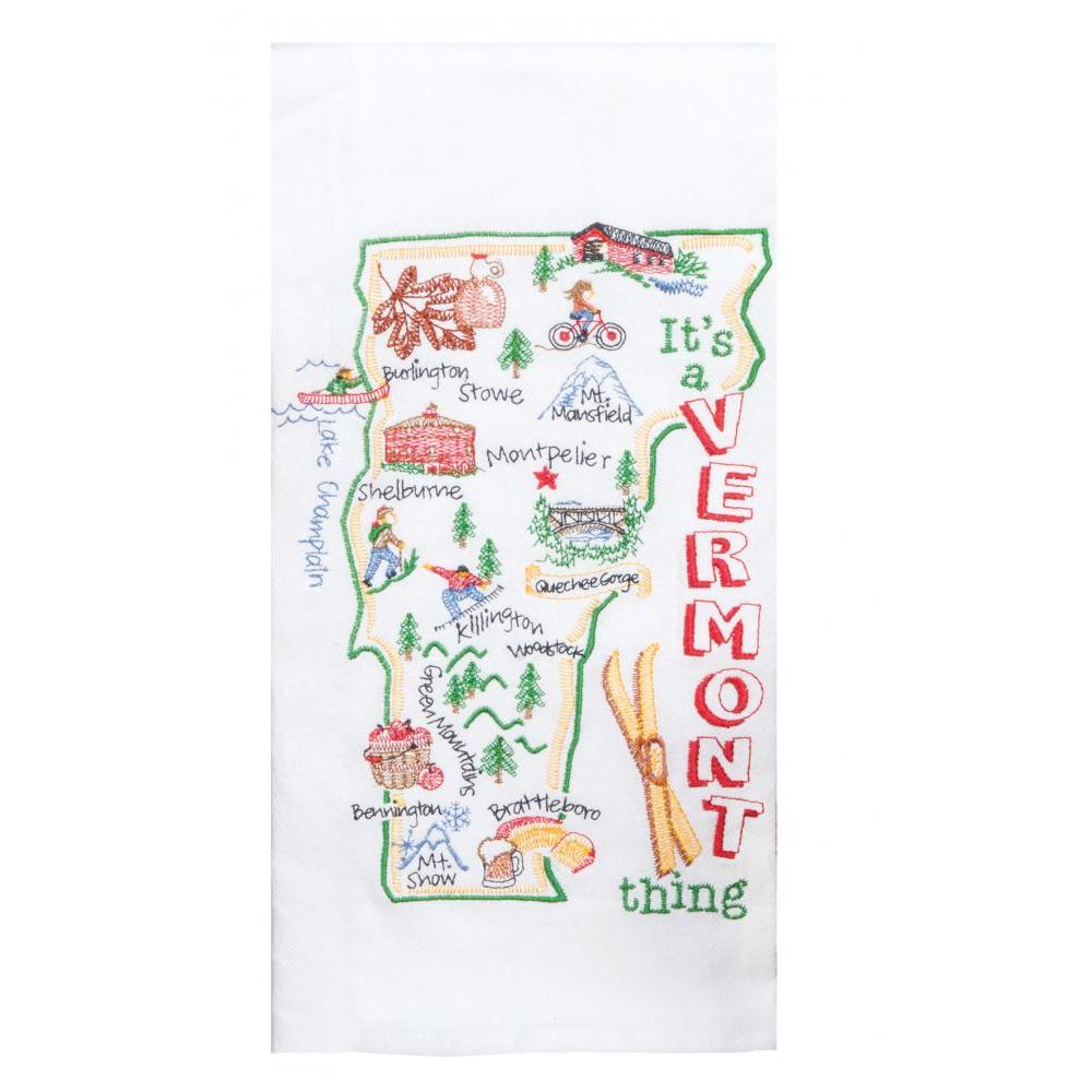 Towel - Flour Sack - Vermont Embroidered