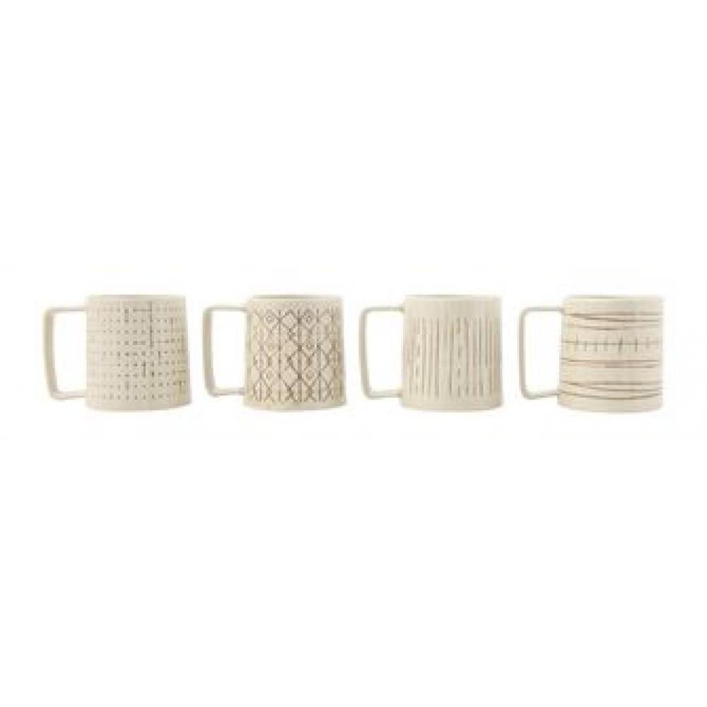 Mug - Embossed Brown Pattern 4 Styles