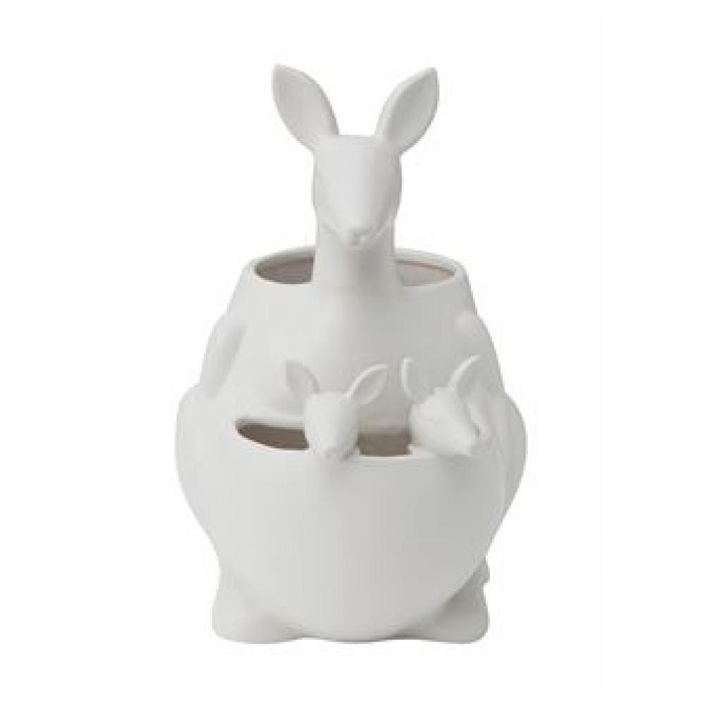 PLanter - Kangaroo Ceramic Matte White