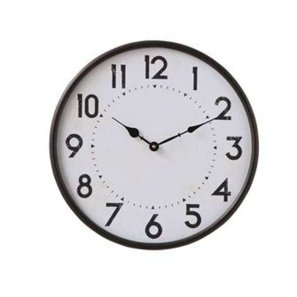 Wall Clock Black Metal