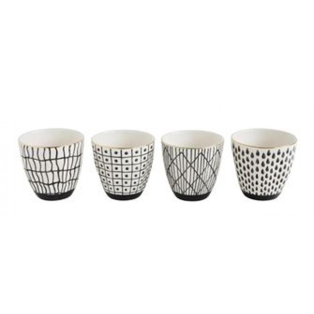 Cup Black Pattern with Gold Electroplating 4 Styles