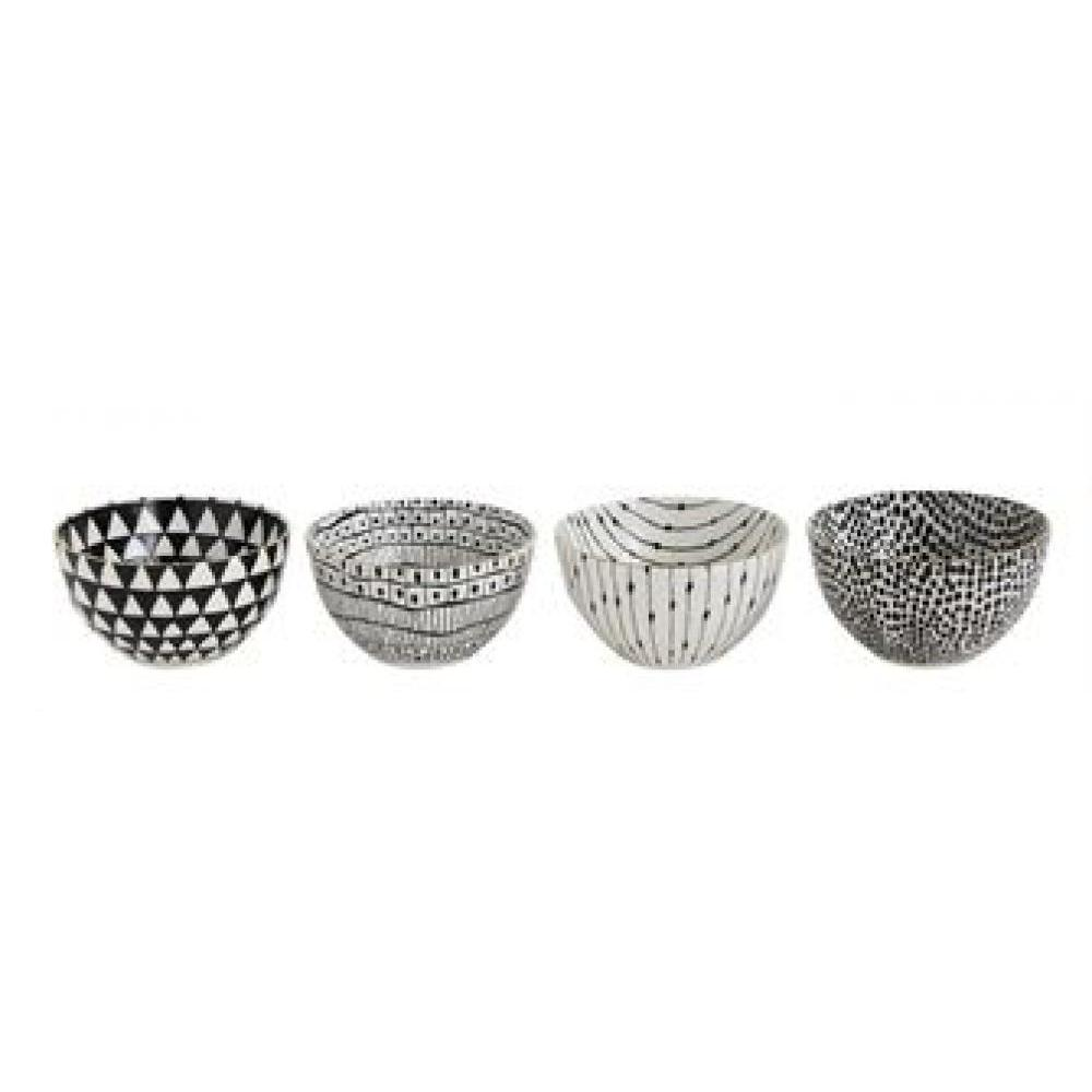 Bowl Black Pattern With Gold Electroplating 4 Styles