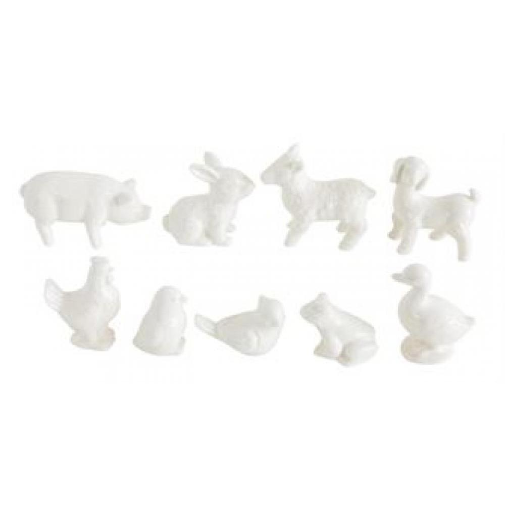 Animals Barnyard Ceramic Mini White Sold (1.99 ea.)