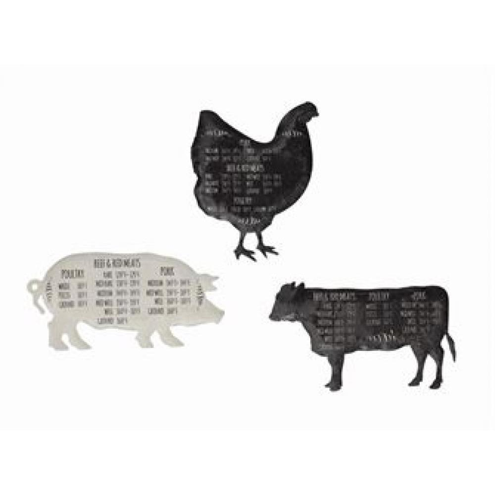 Magnet Tin Farm Animal With Meat Temperatures