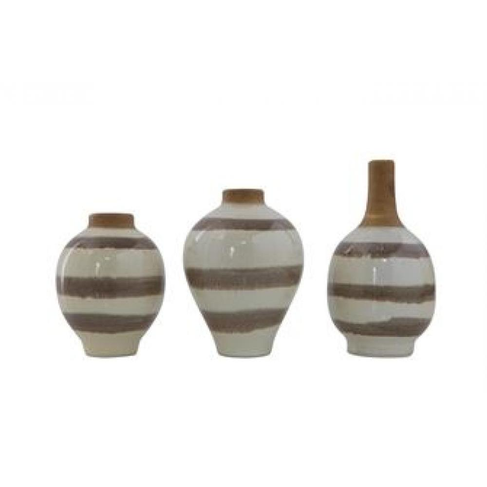 Vase - Taupe Stripes Sold Each $6.99