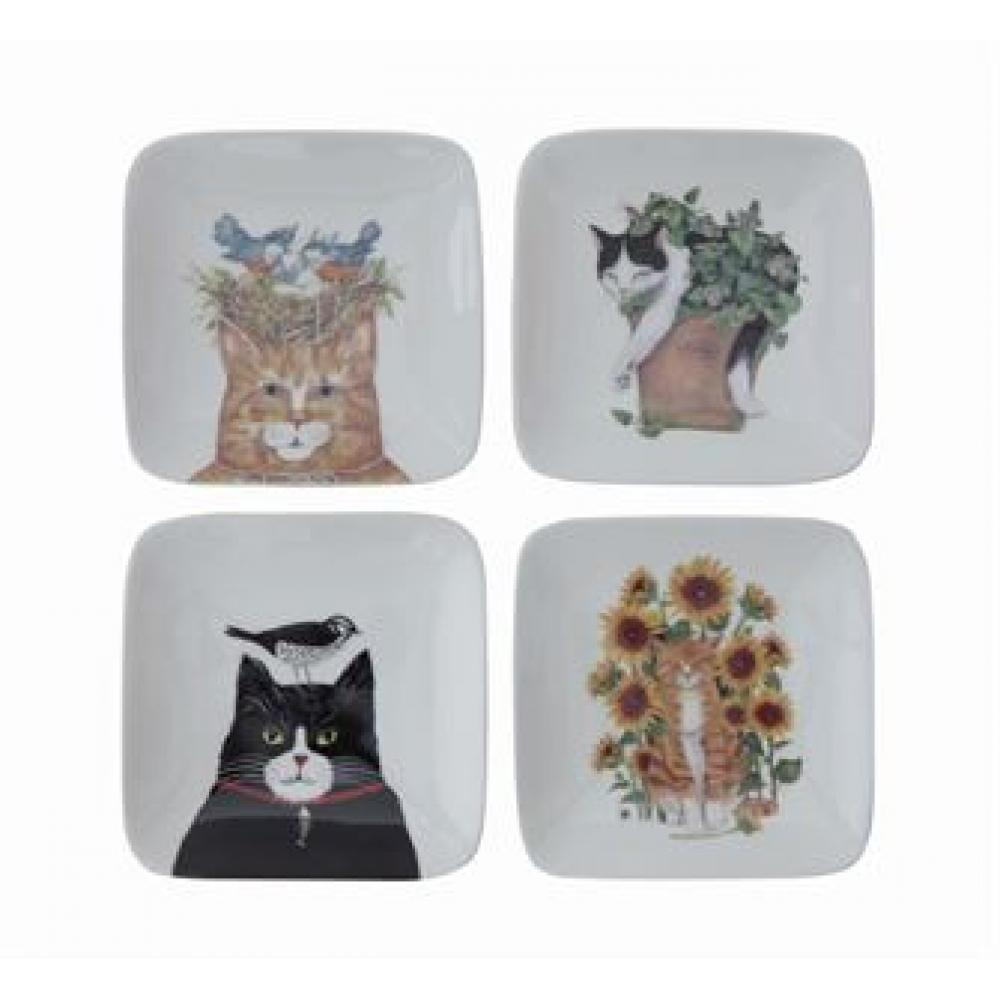 Dinnerware - Plate With Cats 4 Styles
