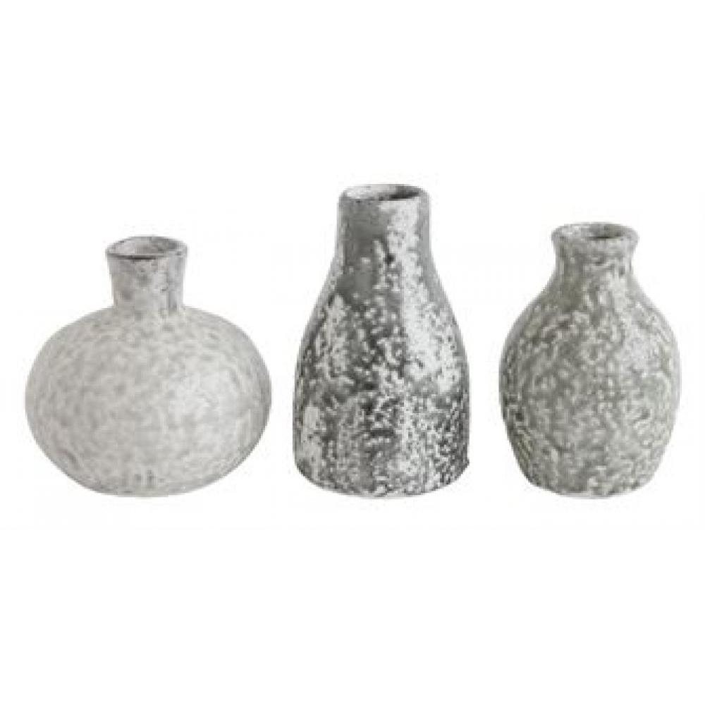 Vase - Terracotta Round Distressed Grey Set of 3 Sold Each 12.99