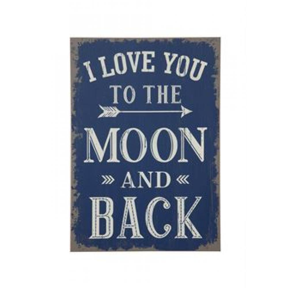 Wall Decor - inI Love You To The Moon And Backin