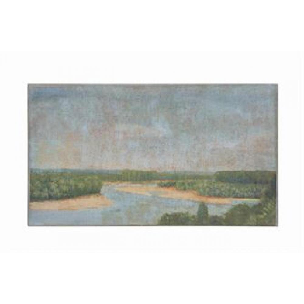 Wall Decor - Canvas Vintage Reproduction River Landscape