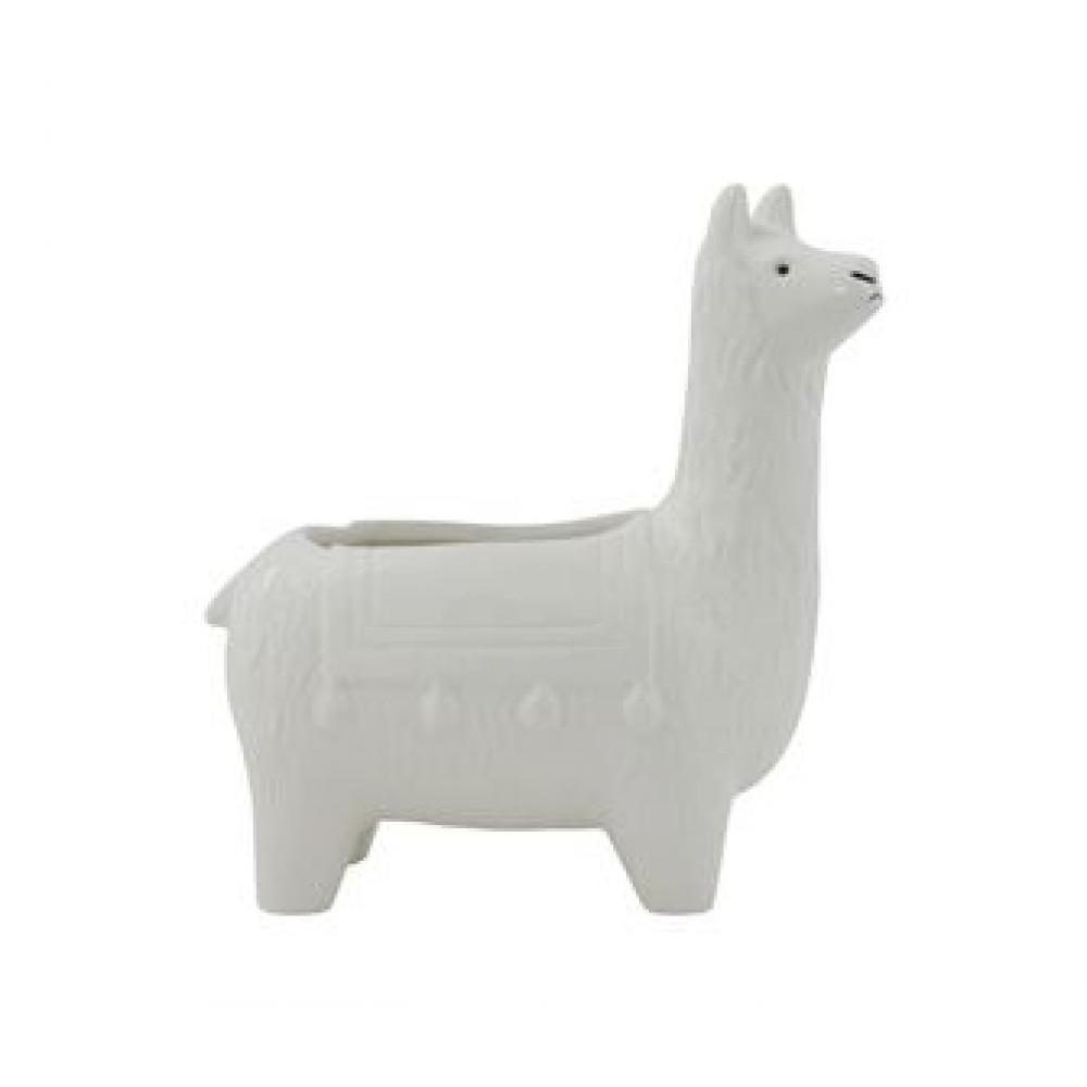Planter - Ceramic Llama White
