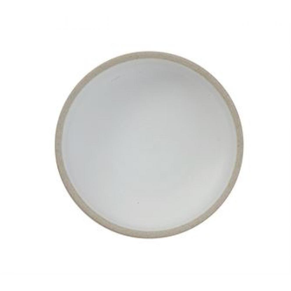 Bowl Matte White Stoneware Round