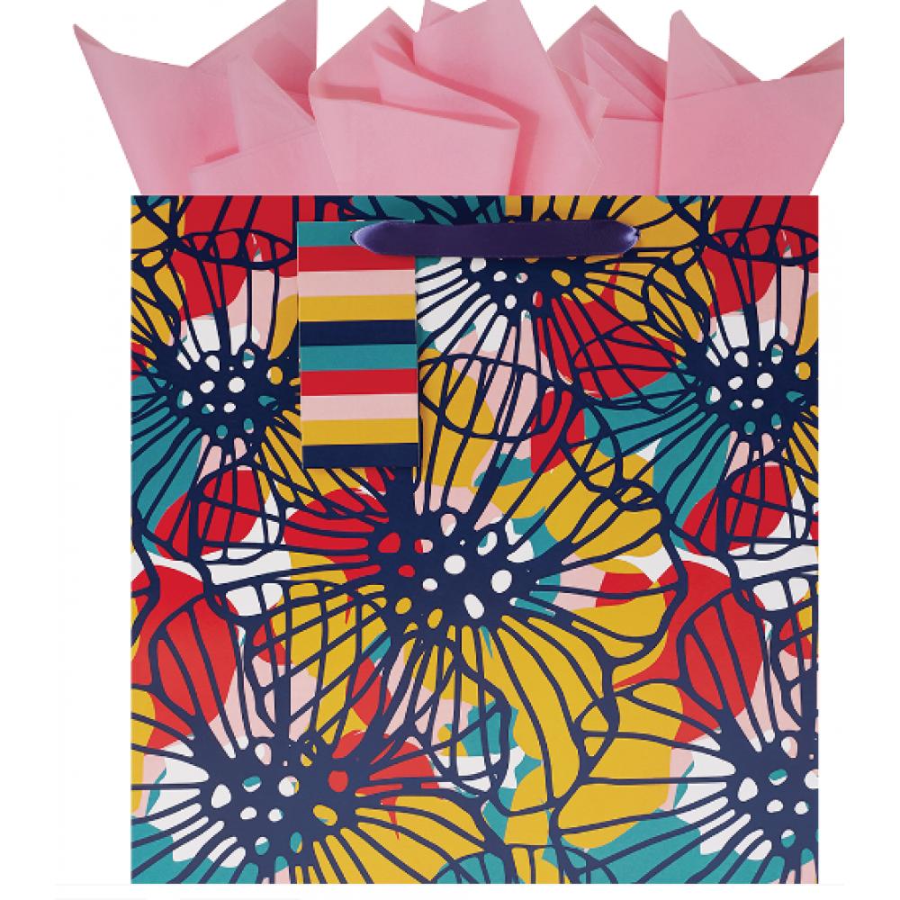 Gift Bag Large Square Bauhaus Blooms