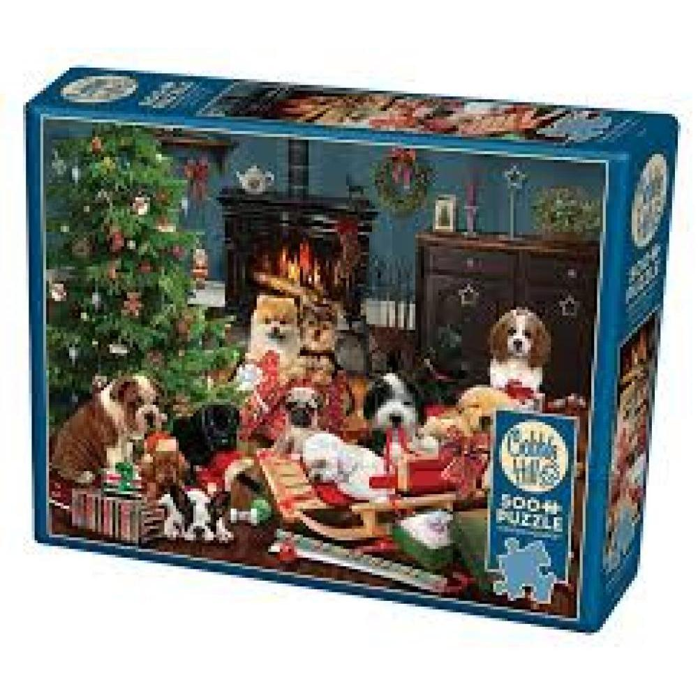 Cobble Hill Christmas Puzzle 500 Piece Christmas Puppies