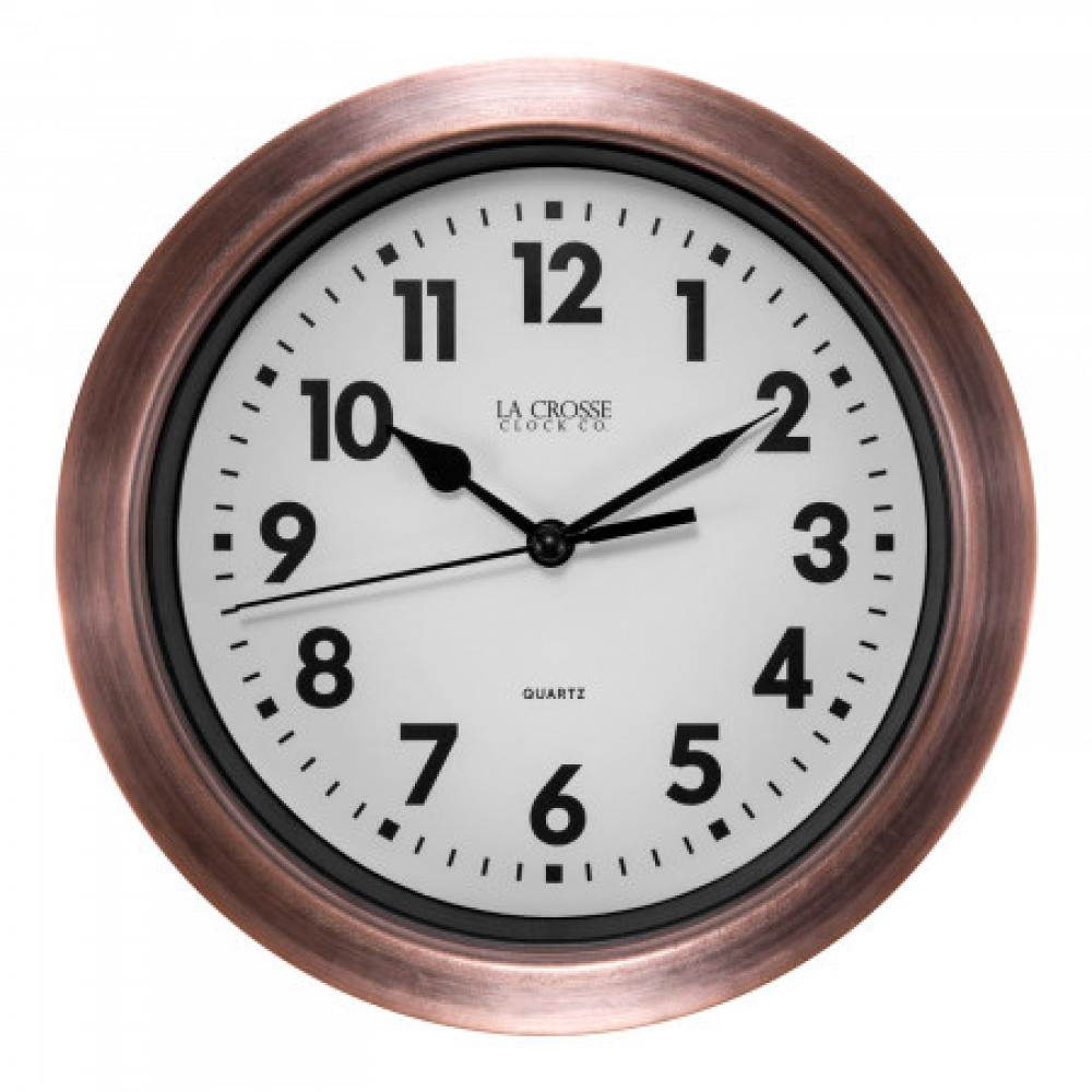 Metal Wall Clock with Copper FInish 7 inch
