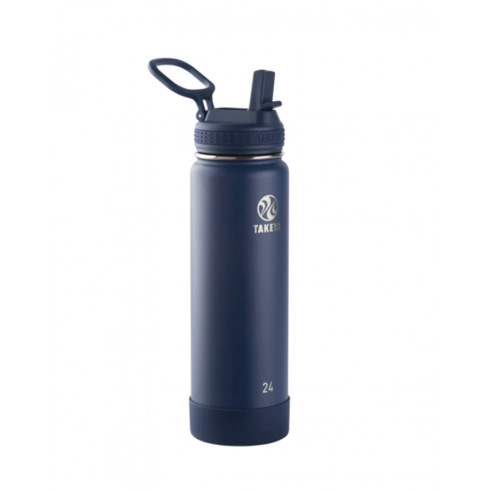 Water Bottle Actives Insulated Stainless Steel Straw 24oz Midnight