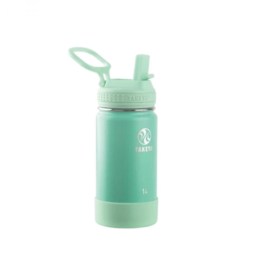 Water Bottle Actives Kids Straw 14oz Seafoam