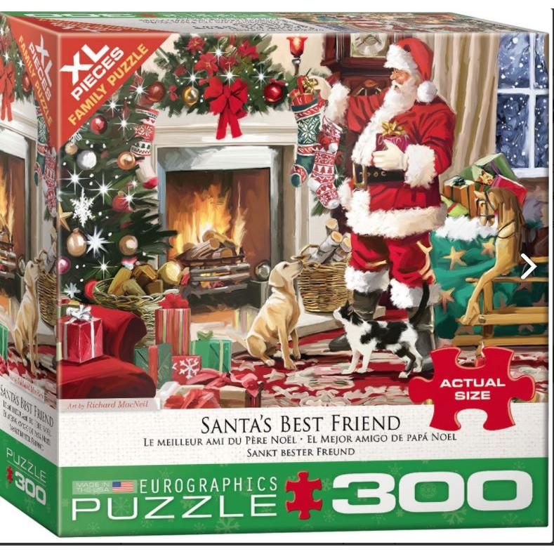 Puzzle Holiday Family 300 Oversized Pieces Santas Best Friend