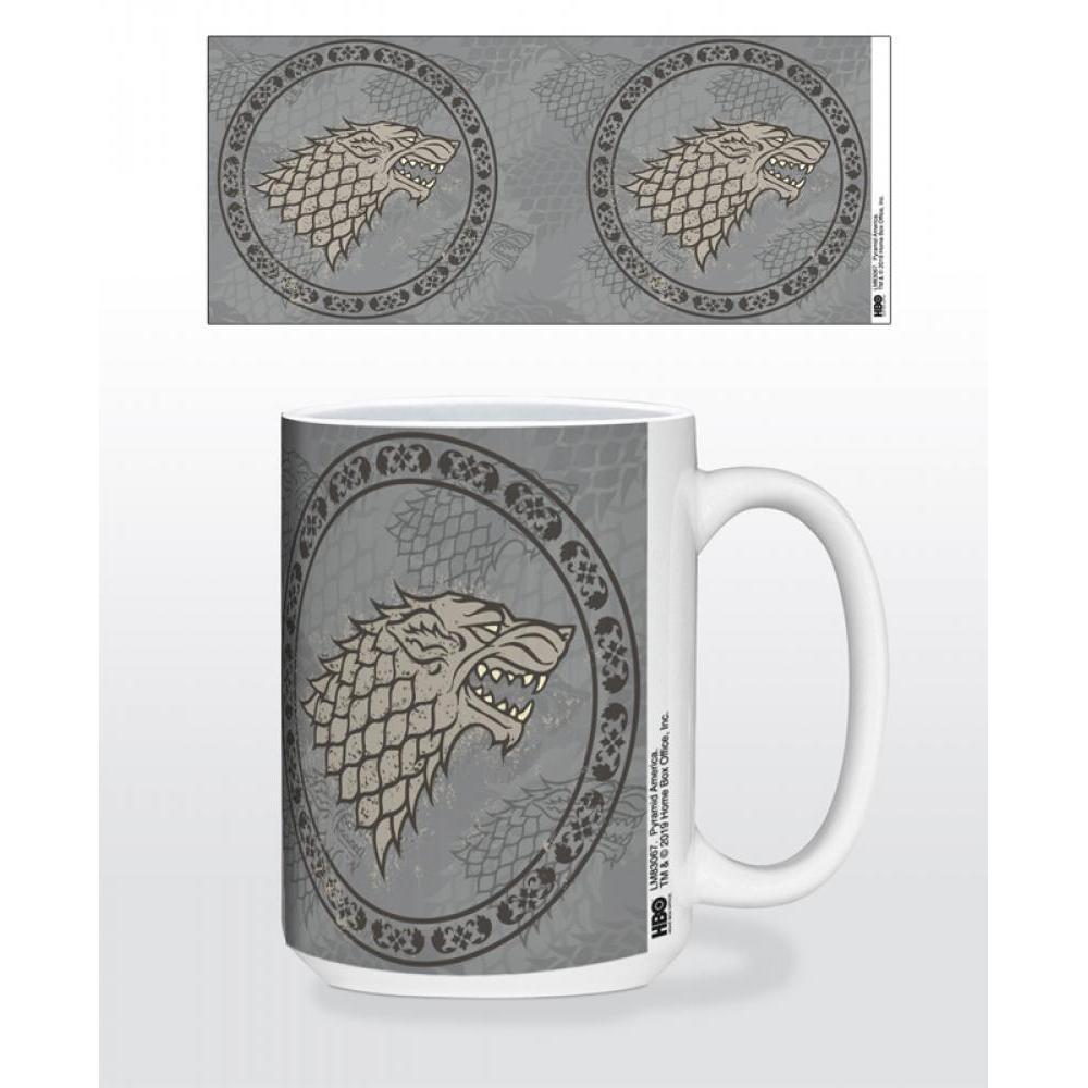 Game of Thrones Stark Circle Sigil 15oz Mug