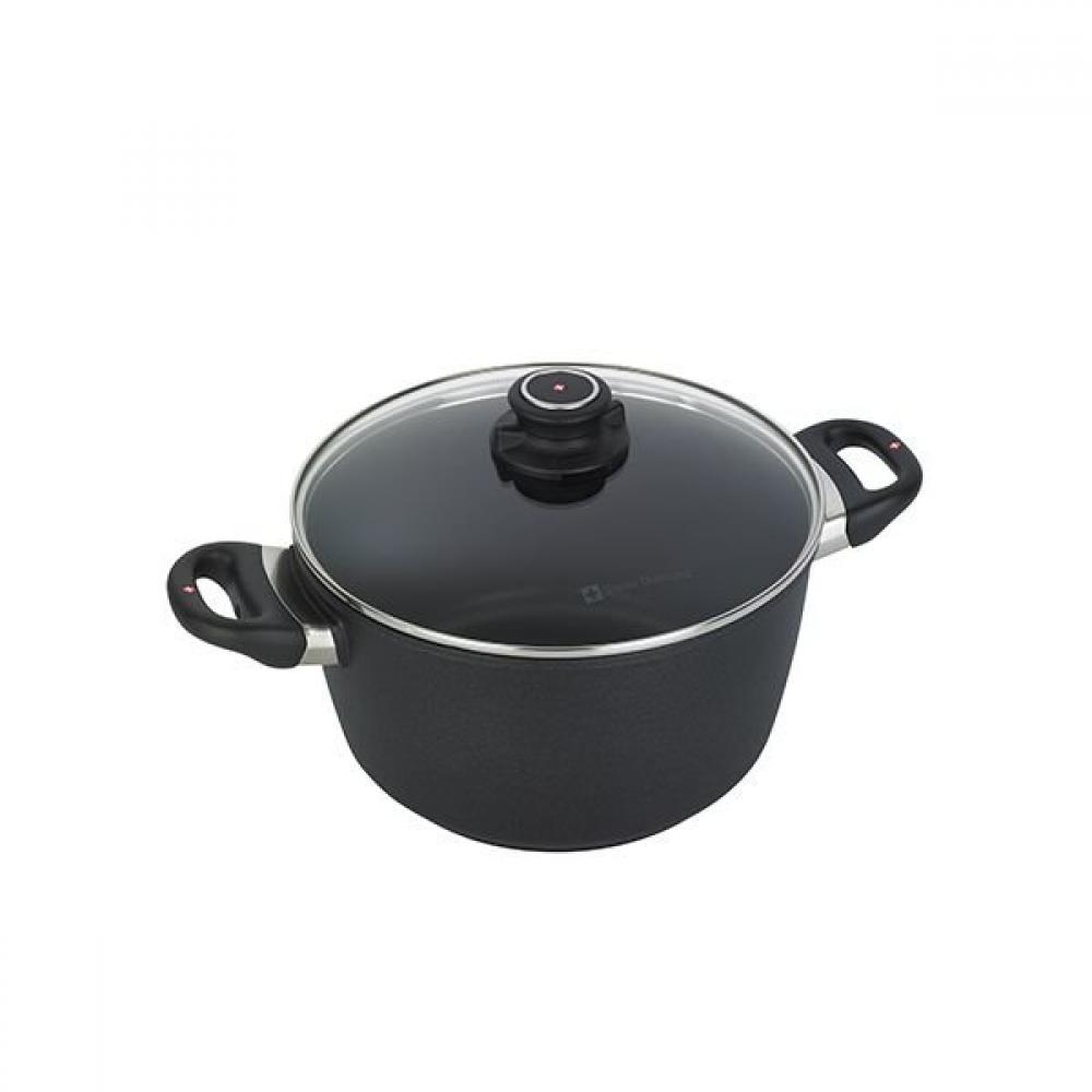 Swiss Diamond XD Induction Soup Pot With Lid 9.5in 5.5 QT