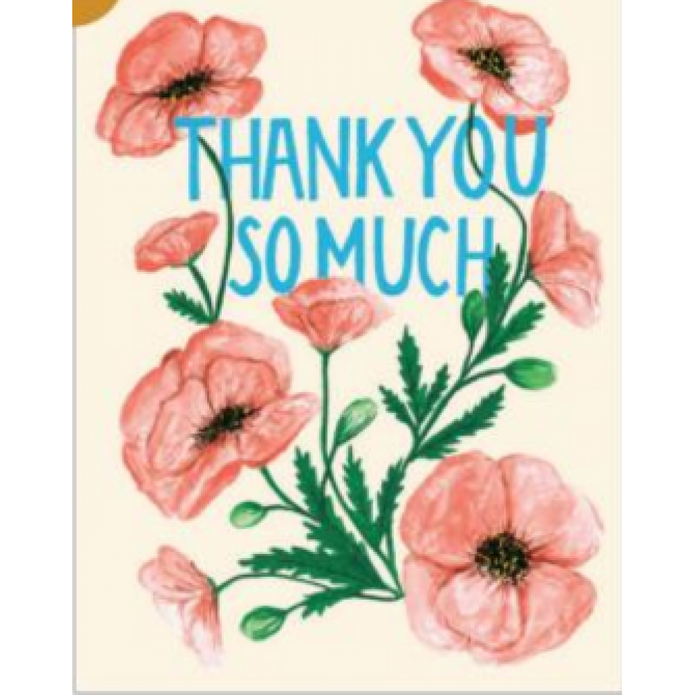 Thank You - Poppies