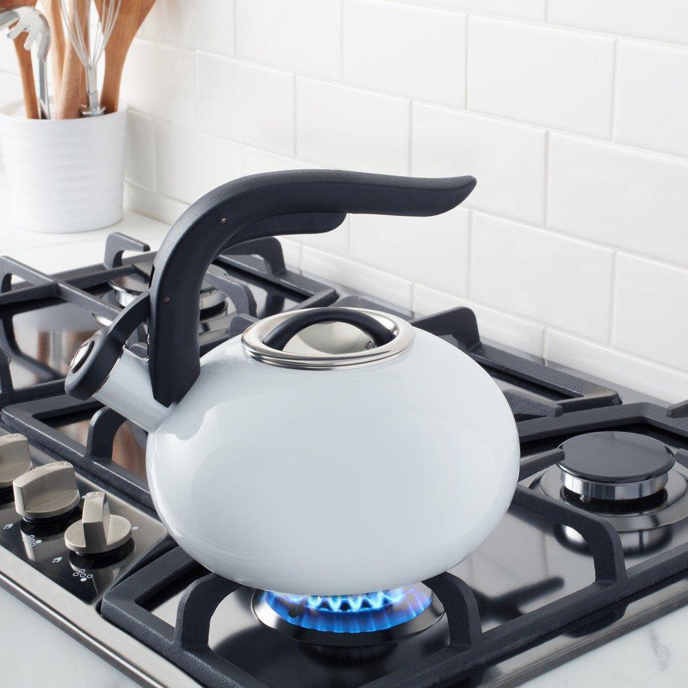 Copco Tea Water Kettle 1.8qt Enamel on Steel White