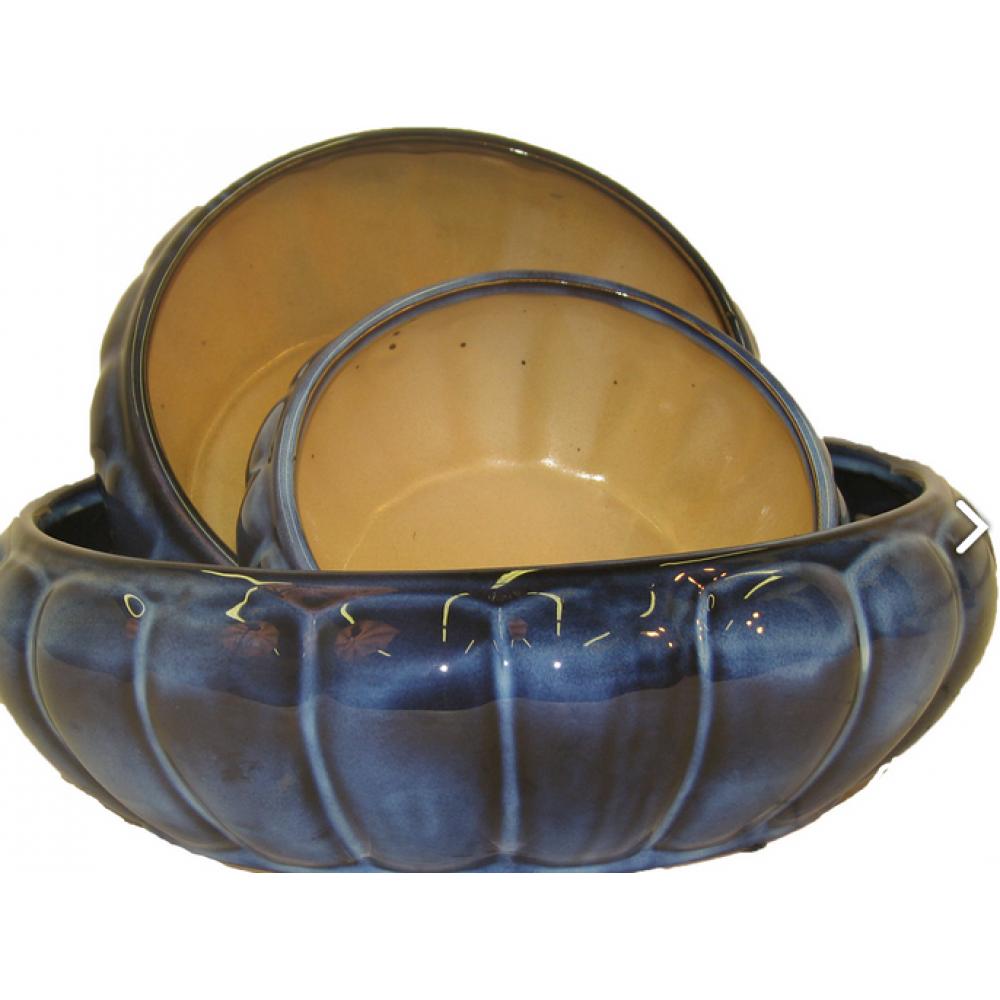 Flower Planter Dish Garden Bowl Blue