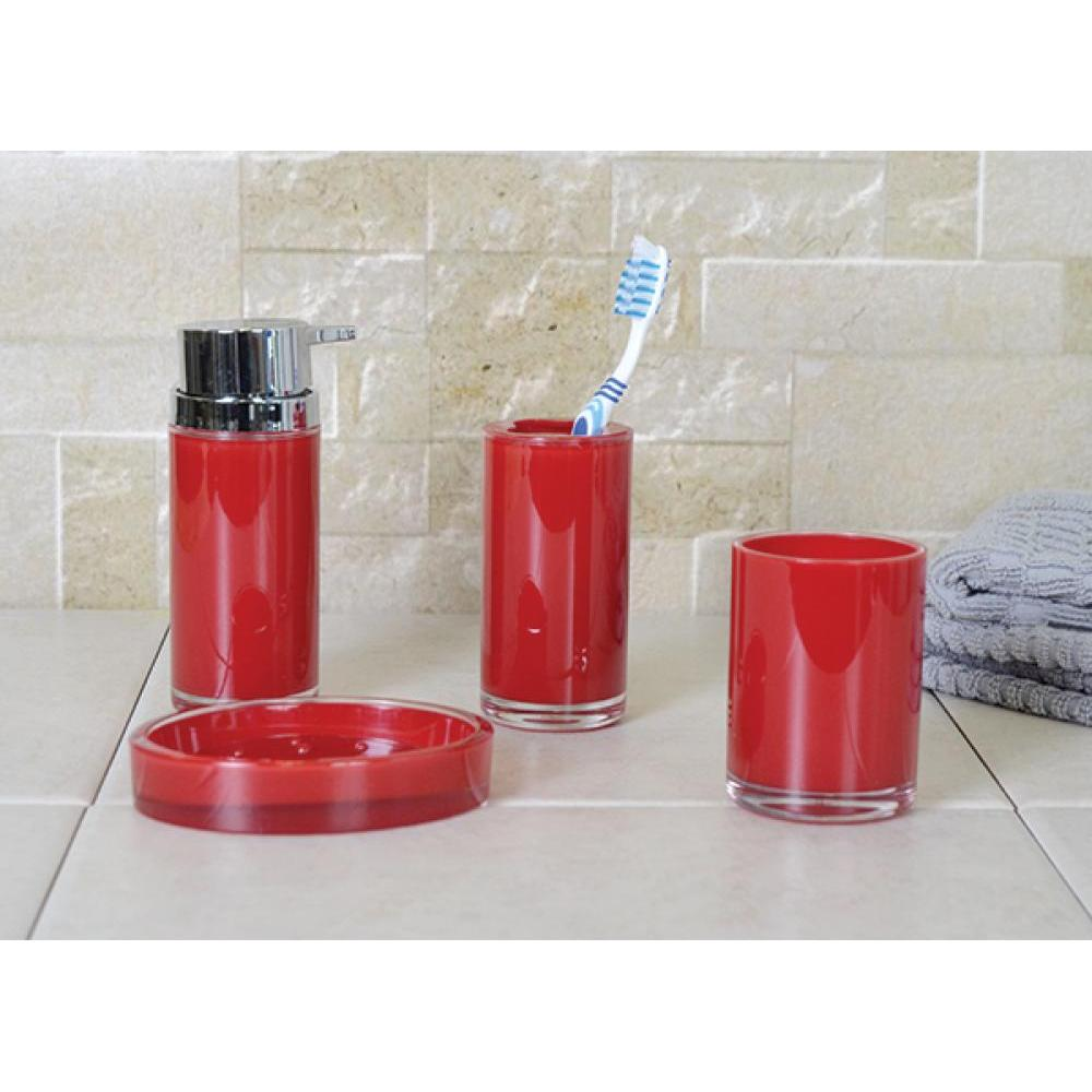 Eternal Acrylic Dark Red Toothbrush Holder