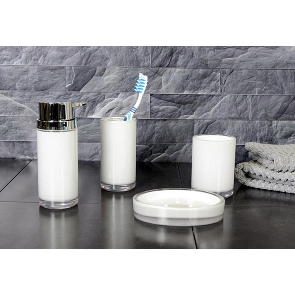 Eternal Acrylic Dark White Soap Dish