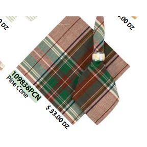 Flatweave Napkins 22in x 22in Pine Cone